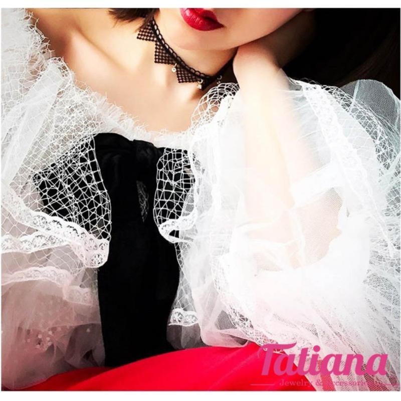 Vòng Cổ Choker Triangle Lacy - Tatiana - CD2003 (Đen)