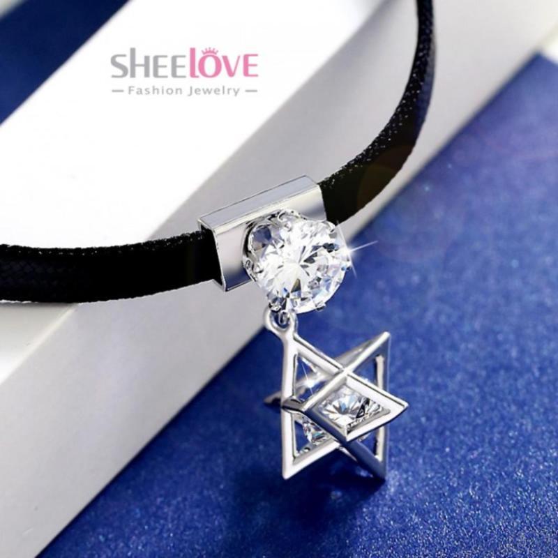 Vòng cổ Choker xinh xắn ngôi sao đính đá lấp lánh thời trang Hàn Quốc JL-TB203