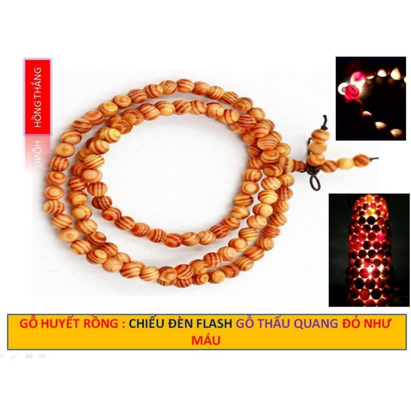 Vòng cổ Gỗ Huyết Long 8 li - Loại gỗ hấp thụ ánh sáng để hóa đỏ như máu - Phong thủy của quyền lực may mắn bình an và hạnh phúc
