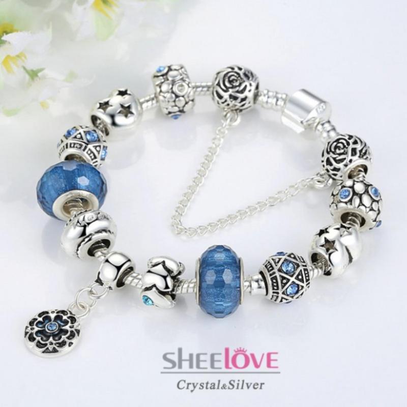 Vòng tay charm đính đá lấp lánh sang trọng cá tính thời trang PA1430