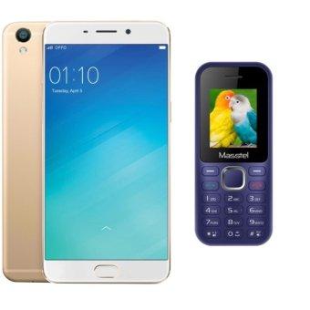 Bộ 1 OPPO F1s 32GB (Vàng Đồng) + 1 Masstel A10