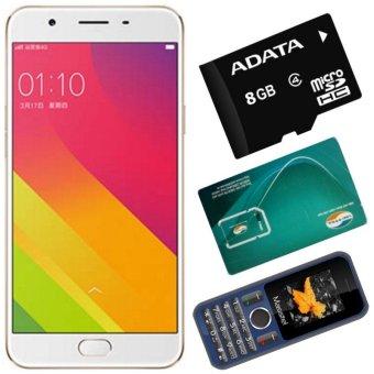 Bộ 1 OPPO F1s 3GB-32GB (Vàng Hồng) - Hãng Phân phối chính thức + 1 Masstel A12 + 1 Sim Viettel + 1Thẻ Nhớ 8GB