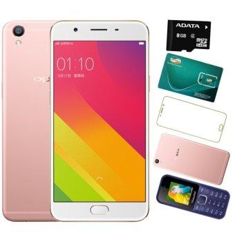 Bộ 1 OPPO F1s Ram 3GB-32GB (Vàng Hồng) + Masstel A10 + Sim Vitettel + 1 Thẻ Nhớ 8GB + Ốp Lưng + Dán Cường Lực - Hãng Phân phối chính thức