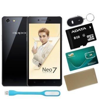 Bộ 1 OPPO Neo 7 16GB 2 SIM (Đen) + 1 Bao Da + 1 Thẻ Nhớ 8Gb + 1 Đèn Led USB + 1 Móc Khóa Thông Minh + 1 Sim Viettel