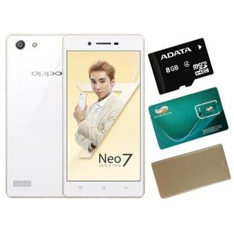 Bộ 1 OPPO Neo 7 16GB 2 SIM (Trắng) + 1 Bao Da + 1 Sim Viettel +Thẻ Nhớ 8GB