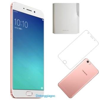 Bộ Oppo F1S 32GB (Hồng) - Hãng Phân phối chính thức + Dán trong + Ốp lưng silicon + Sạc dự phòng Arun 10.000 mAh