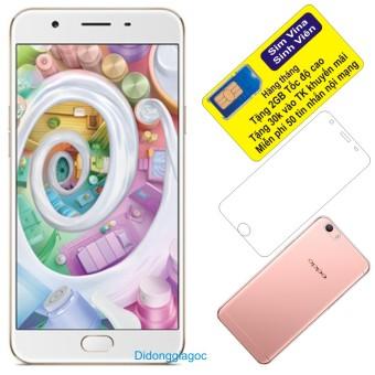 Bộ Oppo F1S 32GB (Vàng) - Hãng Phân phối chính thức + Dán màn hình (Trong suốt) + Ốp lưng silicon + Sim Vina