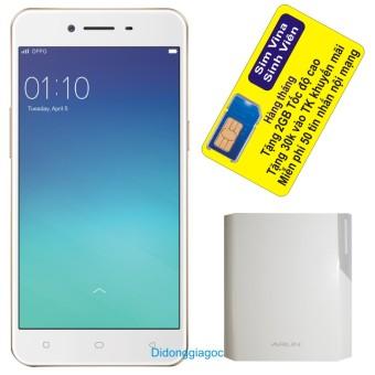 Bộ Oppo Neo 9 A37 16GB (Vàng) – Hãng Phân phối chính thức + Sạc dự phòng Arun 10.000 mAh + Sim Vina