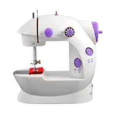 Máy may mini Sewing Machine SM-202A CMD (Trắng phối tím)