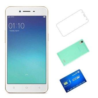 OPPO A37 16GB 2 Sim (Vàng) + Ốp lưng + Dán cường + Sim Vinaphone sinh viên