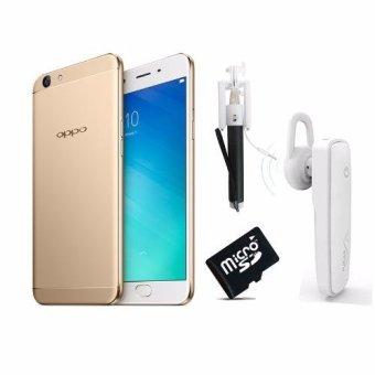 OPPO F1s 32GB + Tặng gậy chụp ảnh + thẻ nhớ 8G + Tai nghe Bluetooth(Vàng 32GB)