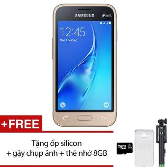 Samsung Galaxy J1 MINI 8GB (Vàng đồng) - Hàng nhập khẩu + Tặng ốp lưng silicon + gậy chụp ảnh + thẻ nhớ 8GB
