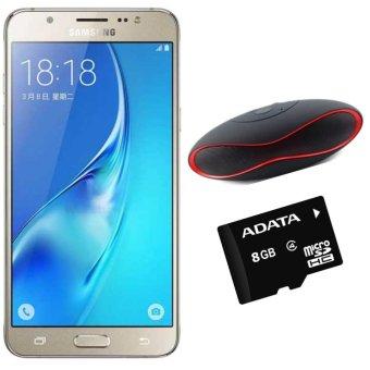 Samsung Galaxy J5 16GB 2016 (Vàng) - Hàng nhập khẩu + Loa bluetooth x6u + Thẻ nhớ 8GB