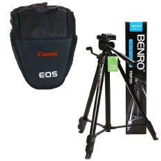 Túi tam giác đựng máy ảnh TG-CANON (Đen) + Chân máy ảnh Benro T600EX CBBC4 (Đen)