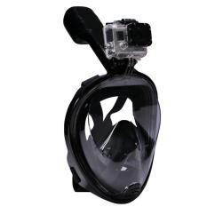 Mặt nạ lặn Full Face Size L gắn được GOPRO, SJCAM tầm nhìn 180 độ, Ống thở gắn liền ngăn nước POPO Collection