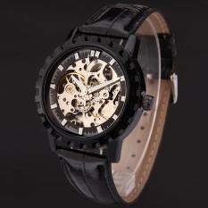 Đồng hồ cơ dây da lộ máy Winner