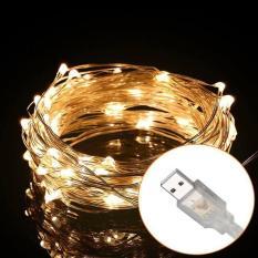 [Đầu cắm USB] Đèn đom đóm led 5m Fairy light chụp chân dung, trang trí phòng màu vàng