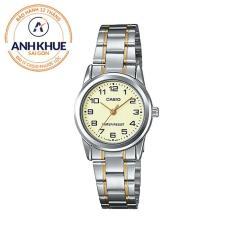 Đồng hồ nữ dây thép không gỉ Casio Anh Khuê LTP-V001SG-9BUDF