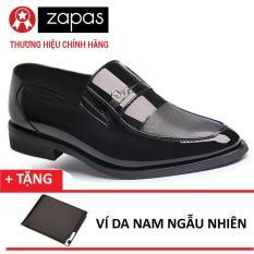 Giày Tây Da Nam Kiểu Xỏ Zapas GT004 (Đen) + Tặng Ví Nam