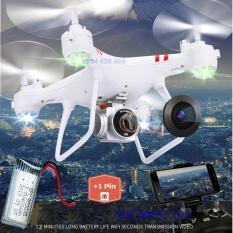 [Tặng 1 pin] Máy bay Flycam KY101 Cao cấp, kết nối Wifi với điện thoại + Tặng tay cầm điều khiển từ xa