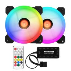 Fan case Led RGB Dual Ring + Bộ Hub và Remote Coolmoon Sunshine II – Hỗ Trợ Aura Sync