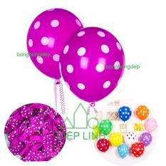50 bong bóng chấm bi lớn loại 12 inch(35cm) trang trí tiệc, sinh nhật – Diệp Linh
