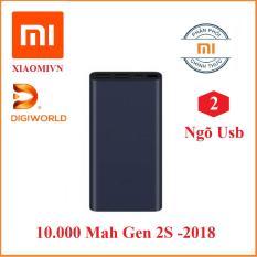 Pin sạc dự phòng Xiaomi 10000 mAh GEN 2S hỗ trợ sạc nhanh Xanh Đen – Hàng DiGiWorld Phân phối