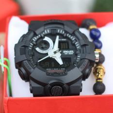 Đồng hồ thể thao nam -SMAEL1642 đen- H002