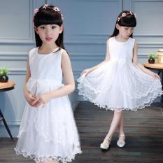 Vải Chiffon Mẫu Mới Bé Gái Ren Váy Váy Liền