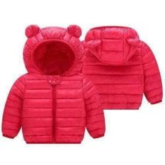 Áo khoác phao tai gấu trẻ em kiểu siêu hot cho bé trai và bé gái từ 8kg đến 20kgg( màu xanh, đỏ, hồng, đen)
