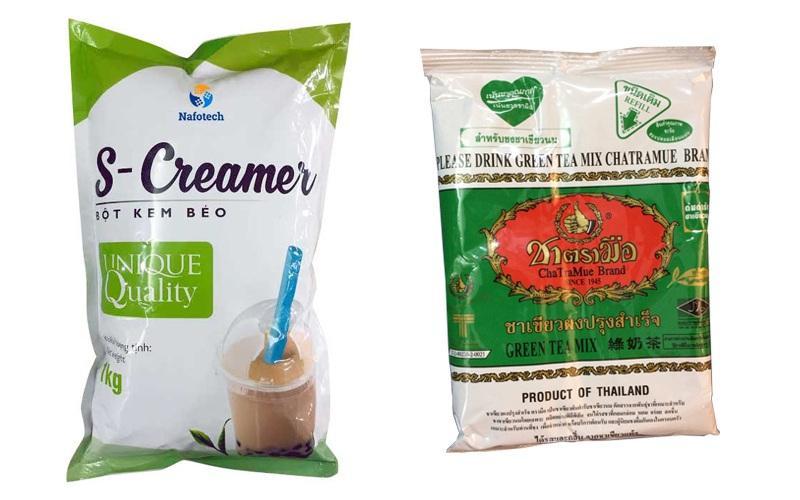 Combo 1 Gói Trà Xanh Thái Lan (200g)+ 1 Bột kem sữa S-creamer (1kg)