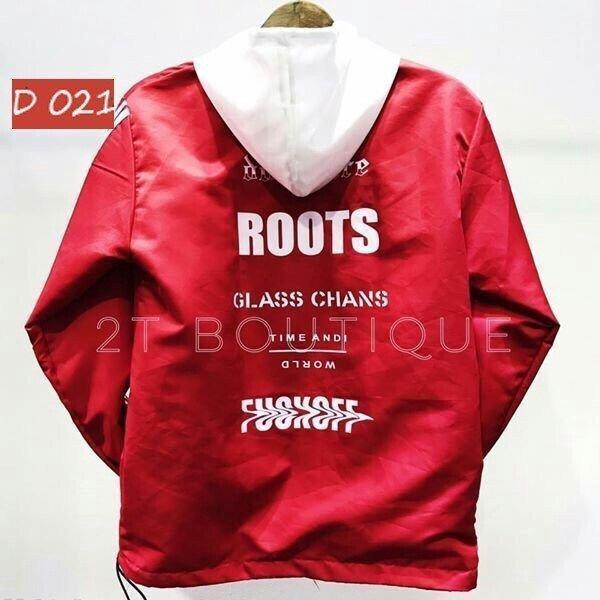 Áo khoác dù thời trang ROOTS độc đáo C111 PKSR (Đỏ)
