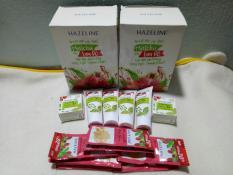 Set quà : 12 gói sữa tắm yến mạch + 4 tuýt sửa rửa mặt + 2 hộp kem nén lựu hazelin + tặng 1 túi đựng mỹ phẩm