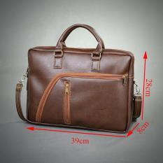 Túi xách công sở cao cấp HANAMA G11 – vừa 15.6 inch( cafe)