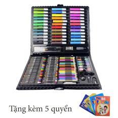 Hộp bút màu 150 chi tiết cho bé tặng kèm 5 quyển tập tô màu