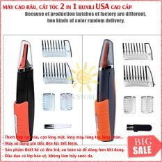 May Cao Rau Micro Touch | Tông đơ đa năng BUXILI USA 3 trong 1 – Cạo râu – Cắt Tóc – Tỉa lông mũi | Sản phẩm Siêu tiện lợi và đa năng cho cánh mày râu | Mã BH 124