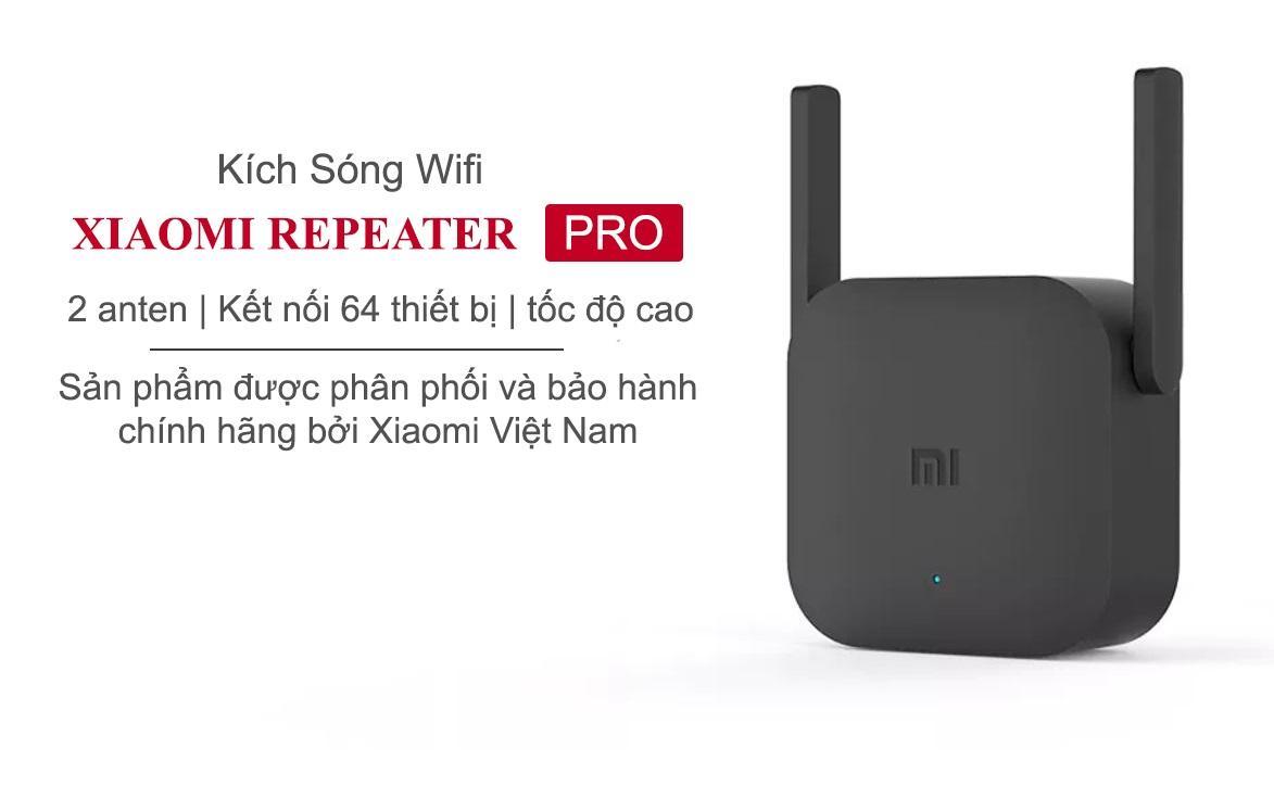 Kích sóng wifi Xiaomi repeater pro (2 râu)