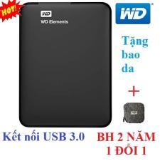 Ổ cứng di động 500Gb WD Elements (đen) – Hàng nhập khẩu