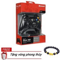 (TẶNG VÒNG TỲ HƯU)Tay cầm chơi game xbox 360 có dây (Màu ngẫu nhiên)