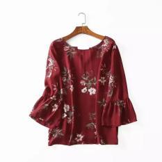 Áo big size hoa đỏ đô size lớn cho người mập bận đẹp