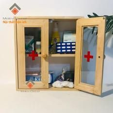 Tủ thuốc y tế gia đình – tủ thuốc gỗ VẬT DỤNG QUAN TRỌNG trong nhà