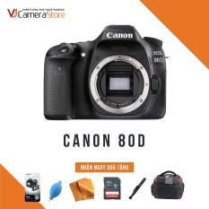 Canon Body EOS 80D – Nhập Khẩu, Tặng kèm thẻ nhớ 32gb, túi Canon Focus, bóng thổi, khăn lau, bút lau lens, dán màn hình