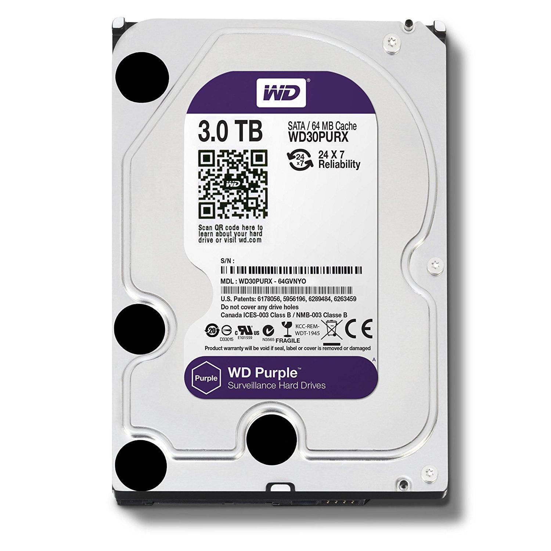 Mua Ổ cứng gắn trong HDD Western Digital Purple 3TB, SATA 3, 64 Cache – Ổ cứng chuyên dụng cho Camera ở đâu tốt?