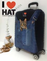 Vỏ bọc vali Meow meoe, áo bọc vali, túi bọc vali size S-M