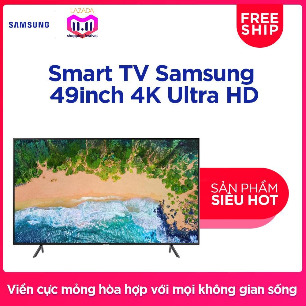 Giá Smart TV Samsung 49inch 4K Ultra HD – Model UA49NU7100KXXV (Đen) – Hãng phân phối chính thức Tại Samsung