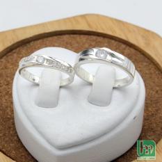 Nhẫn đôi BẠC HIỂU MINH nc549 hạnh phúc bên anh