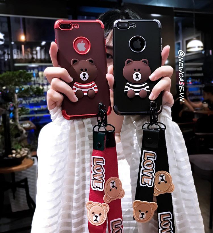 Mua Ốp lưng dẻo gấu (kèm 02 dây ngắn và dài) – Iphone 6, 6plus, 7, 7plus, 8, 8plus, X ở đâu tốt?