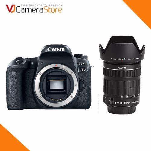 Địa Chỉ Bán Canon EOS 77D DSLR Camera + Ống kính Canon EF-S 18-135mm f/3.5-5.6 IS STM – Hàng nhập khẩu