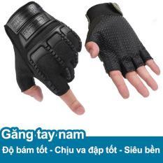 Găng tay, bao tay nam cụt ngón bảo vệ mu bàn tay và tăng độ bám KRM9