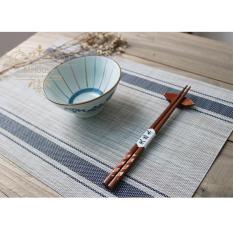 Bộ 4 khăn lót bàn ăn ( sọc xanh )